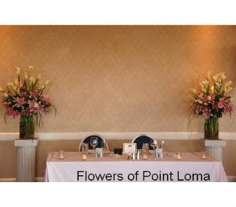 Sweetheart table in San Diego CA, Flowers Of Point Loma