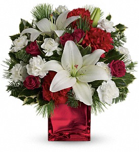 Caroling in the Snow by Teleflora in Cocoa FL, A Basket Of Love Florist