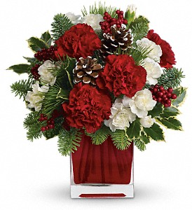 Make Merry by Teleflora in Redwood City CA, A Bed of Flowers