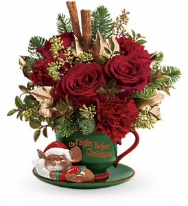 Teleflora's Send a Hug Night Before Christmas in Fredonia NY, Fresh & Fancy Flowers & Gifts