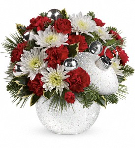Teleflora's Snowball Surprise Bouquet in Grass Lake MI, Designs By Judy