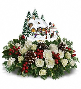 Thomas Kinkade's Snow Time by Teleflora in Belford NJ, Flower Power Florist & Gifts