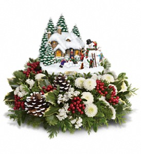 Thomas Kinkade's Snowballs & Smiles Centerpiece in Chicago IL, Yera's Lake View Florist
