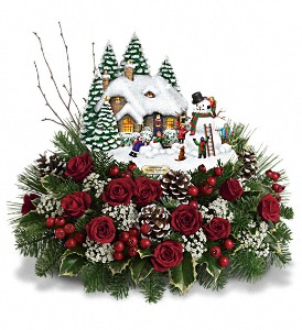 Thomas Kinkade's Winter Wonder by Teleflora in Fredonia NY, Fresh & Fancy Flowers & Gifts