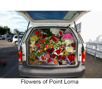 Fresh from the market in San Diego CA, Flowers Of Point Loma
