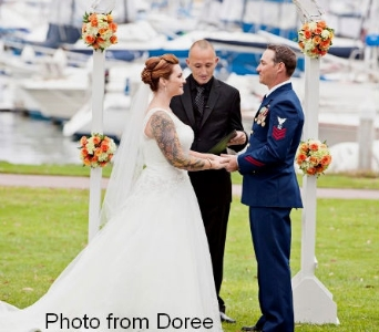 Doree & Brian in San Diego CA, Flowers Of Point Loma