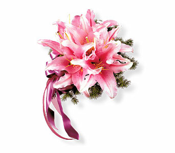 Oriental Lilies Nosegay in Bend OR, All Occasion Flowers & Gifts