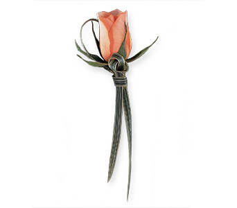 Peach Promise Boutonniere in Bend OR, All Occasion Flowers & Gifts