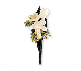 Stephanotis Boutonniere in Woodland Hills CA, Woodland Warner Flowers