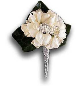 White Stock Boutonniere in Bend OR, All Occasion Flowers & Gifts