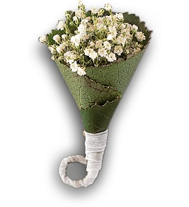 Rolled Gypsophila Boutonniere in Santa Fe NM, Barton's Flowers