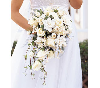 White Cascade Bridal Bouquet in Bend OR, All Occasion Flowers & Gifts