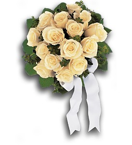 Bountiful White Roses Nosegay in Bend OR, All Occasion Flowers & Gifts