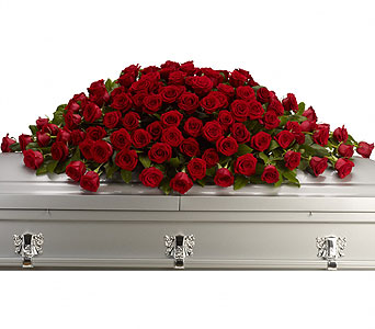 Greatest Love Casket Spray in Oklahoma City OK, Array of Flowers & Gifts