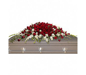 Garden of Grandeur Casket Spray in Oklahoma City OK, Array of Flowers & Gifts