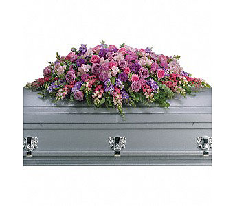 Lavender Tribute Casket Spray in Oklahoma City OK, Array of Flowers & Gifts