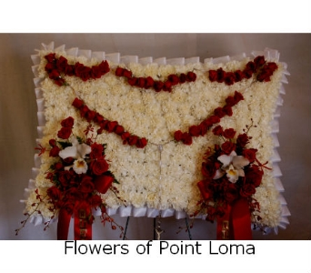 Pillow with Rosary in San Diego CA, Flowers Of Point Loma