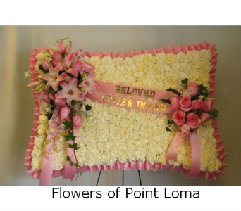 Pillow in San Diego CA, Flowers Of Point Loma