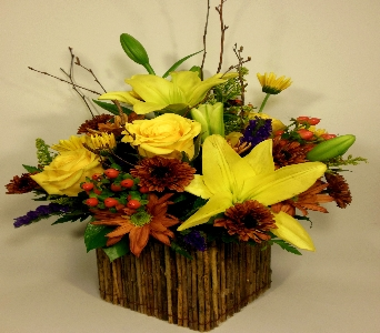 Christine's Wooden Box Bouquet in Columbus OH, OSUFLOWERS .COM