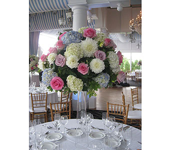 Pastel Hydrangea & Pink Rose High Top in Somerset NJ, Flower Station