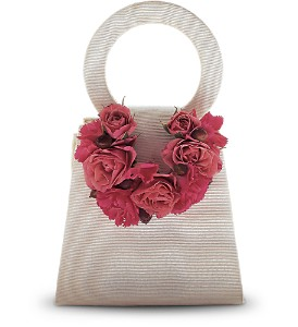 Plush Pinks Purse Corsage in Woodland Hills CA, Woodland Warner Flowers