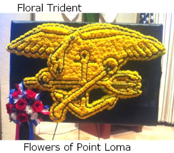 Navy Seal Trident in San Diego CA, Flowers Of Point Loma