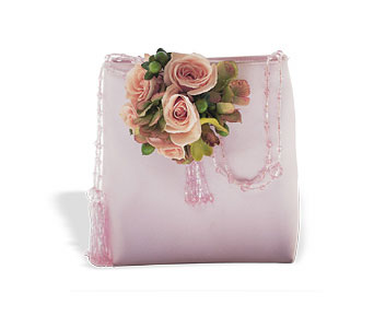 Pink and Green Purse Corsage in Orlando FL, Harry's Famous Flowers