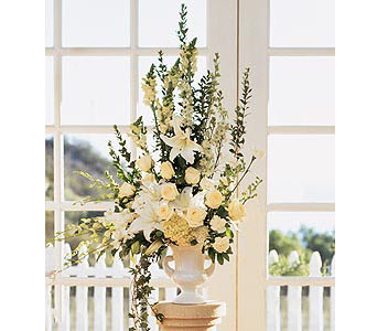 Home Ceremony Wedding Vows Arrangement in Oklahoma City OK, Capitol Hill Florist and Gifts
