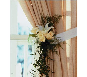 Home Ceremony Curtain Cluster in Fort Worth TX, TCU Florist