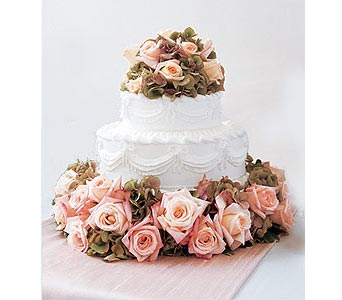 Sweet Visions Wedding Cake Decoration in Santa Monica CA, Edelweiss Flower Boutique