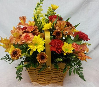 Touch of Fall Centerpiece in New Paltz NY, The Colonial Flower Shop