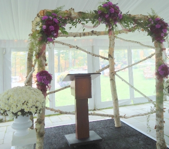 Wedding Ceremony Arch in Saratoga Springs NY, Dehn's Flowers & Greenhouses, Inc