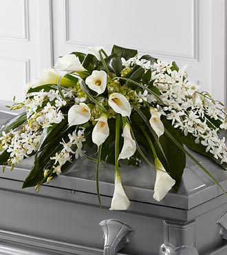 Angel Wings Casket Spray in Guelph ON, Patti's Flower Boutique