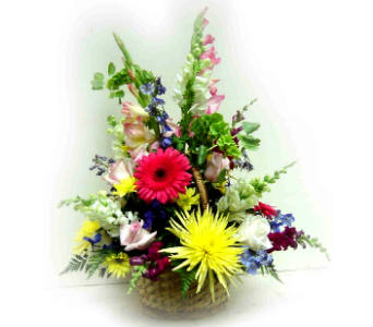 Colorful wicker basket in Sanborn NY, Treichler's Florist
