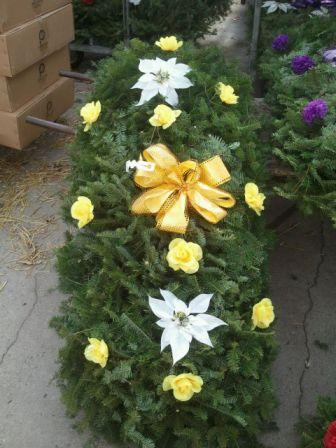 Yellow Grave Blanket in Westland MI, Westland Florist & Greenhouse