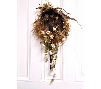 Feather Wreath in Crafton PA, Sisters Floral Designs