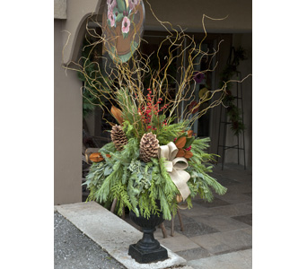 Willow Berry Urn Arrangement in Aurora ON, Caruso & Company