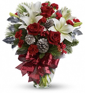 Holiday Enchantment Bouquet in Redwood City CA, A Bed of Flowers