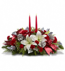 Lights Of Christmas Centerpiece in Weymouth MA, Bra Wey Florist