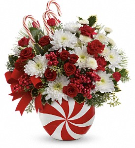 Teleflora's Peppermint Swirl BouquetWas $49.95 in Columbus OH, OSUFLOWERS .COM