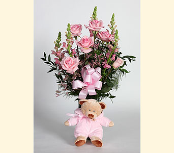 Baby Girl Vase Arrangement in Southampton PA, Domenic Graziano Flowers