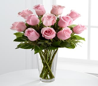 FTD Long Stem Pink Roses Bouquet in Hollister CA, Barone's Westlakes Balloons and Gifts