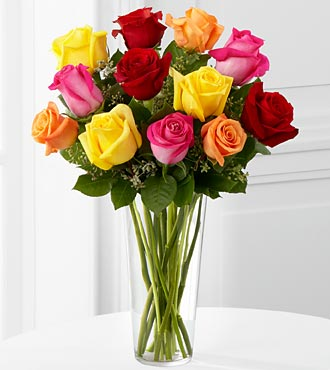 FTD Bright Spark Rose Bouquet in Hollister CA, Barone's Westlakes Balloons and Gifts