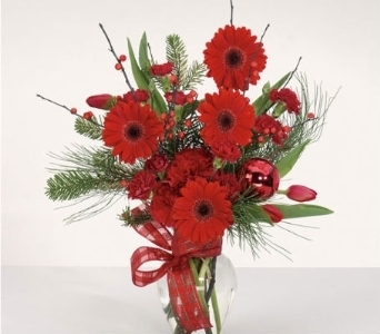 Merry Christmas Bouquet in Charleston SC, Tiger Lily Florist Inc.