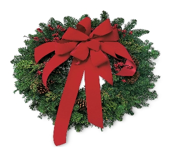 Michigan Evergreen Wreath in Big Rapids, Cadillac, Reed City and Canadian Lakes MI, Patterson's Flowers, Inc.