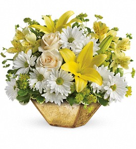 Garden Reflections Centerpiece by Teleflora in Hollister CA, Precious Petals
