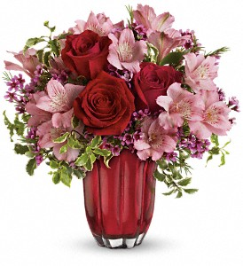 Heart's Treasure Bouquet by Teleflora in Allen TX, The Flower Cottage