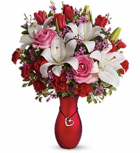 My Heart Is Yours Bouquet by Teleflora in The Woodlands TX, Rainforest Flowers