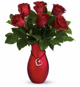 Passion's Heart Bouquet by Teleflora in The Woodlands TX, Rainforest Flowers