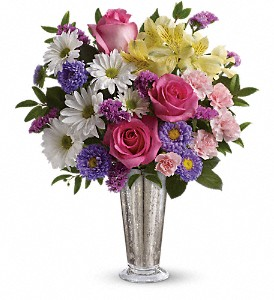 Smile And Shine Bouquet by Teleflora in Jamesburg NJ, Sweet William & Thyme